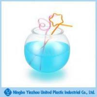Wholesale 128 OZ single wall round shaped plastic tumbler with straw from china suppliers