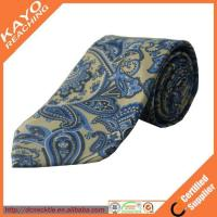 Wholesale fashion blue color printed paisley tie from china suppliers