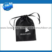 Wholesale Black custom printed drawstring satin jewelry pouch from china suppliers
