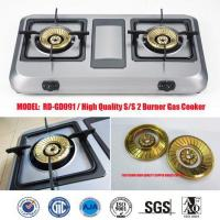 China New Double Gas Stove universal gas cooker brass cap set (RD-GD091) on sale