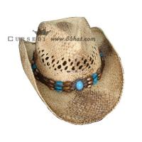 Wholesale western straw cowboy hats western style straw hats from china suppliers
