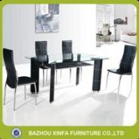 Wholesale Heavy-duty double-layer tempered glass dining table set cheap sale from china suppliers