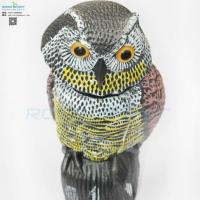 Buy cheap plastic garden owl decoy for driving birds away from wholesalers