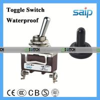 China 2P waterproof toggle switch lighted toggle switch 12v cover knife switch on sale