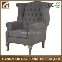 Wholesale french country style solid oak wood frame button fabric upholstery living room sofa chair from china suppliers