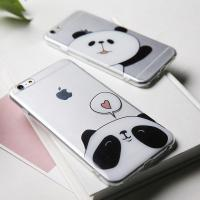 Wholesale IMD techniques cartoon panda Full Transparent Background TPU phone cases from china suppliers