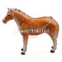 Wholesale TBP0014Y-horse trinket jewelry box horse figurine statue metal home decor from china suppliers
