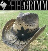 China Peter Grimm - Mallorie - Women's Western Straw Cowboy Hat - Black on sale