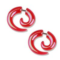 Red Transparent with AB Shimmer Faux Spiral