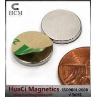 Wholesale N45 Disc Neodymium Magnet Dia 1/2x1/16 with 3M Adhesive on N or S from china suppliers