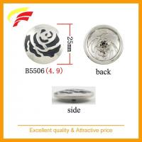 enameled rose snap button B5506