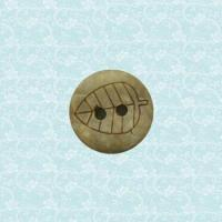 20L 2 hole laser coconut shell button