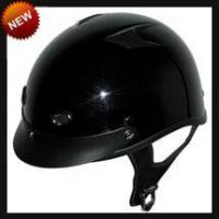 China DOT Gloss Black Vented Shorty Motorcycle Helmet on sale