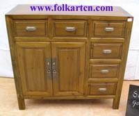China Bedside Cabinet SC-140p6 Medium Size 6 Drawer 2 Door Cabinet, Buffet, End Table, Nightstand on sale
