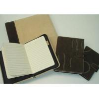 China Stationery / Leather-covered journals/ Leather portfolio on sale