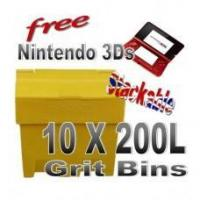 Wholesale Offers with Free Gifts 10x 200 Litre Grit Bins with Free Gift from china suppliers