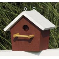Wholesale Plain Birdhouse - Red with white trim from china suppliers