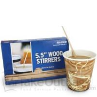China Wood Coffee Stirrers - 5.25 (10000 / case) on sale