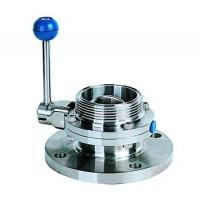 Single flange single threaded butterfly valve
