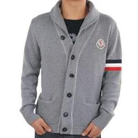 Wholesale Moncler Men Button Wool Sweaters Classic Grey from china suppliers