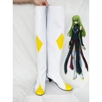 Wholesale Code Geass White and Yellow Geass Cosplay Shoes/Boots from china suppliers