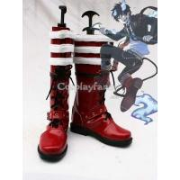 Wholesale Ao no Exorcist Cosplay Rin Okumura Artificial Leather Cosplay Show Boots from china suppliers