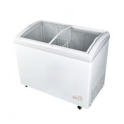 Quality Curved Glass Door Chest Freezer for sale
