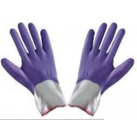 China M Customized Durable Foam Finished Purple Nitrile Coated Working Protective Hand Gloves for sale