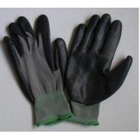 China Knitted Seamless Grey Nylon Liner Protective Hand Gloves With Black Nitrile Coated for sale