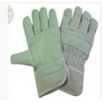 OEM Safety Grain Pig Skin Leather Gloves with White Cotton Back for sale