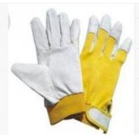 Natural Color Full Pig Skin Leather Gloves with Cotton Spandex Fabric Back for sale
