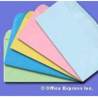 China Colored #10 Regular Envelope - Assorted - 24# Pastel colors Size: (4 1/8 x 9 1/2) on sale