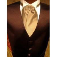 """Wholesale Satin Tuxedo Vest - Chocolate Brown with """"Solid Fusion"""" Champagne Ascot from china suppliers"""
