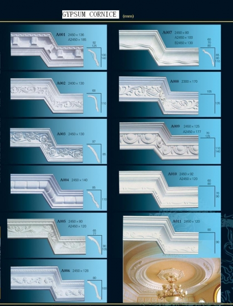 Quality plaster cornice for sale