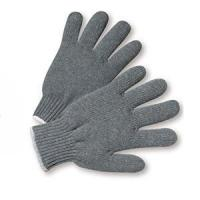 Wholesale Grey Poly cotton T/C Yarn Seamless Knitted Gloves from china suppliers