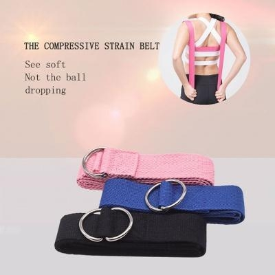 Quality Best Adjustable Exercise Yoga Strap With Metal D-Ring Wholesale for sale