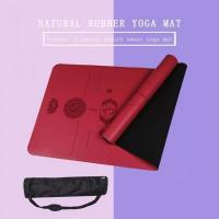 Wholesale PU Rubber 5mm Yoga Pilates Mat With Body Alignment Lines Manufacturers from china suppliers
