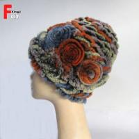 Buy cheap Low price Knitted Rex Rabbit Fur Hat from wholesalers