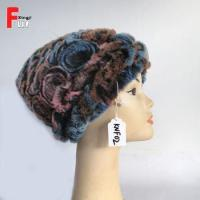 Buy cheap Adult Knitted Rex Rabbit Fur Hat from wholesalers
