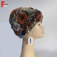Buy cheap Knitted Rex Rabbit Fur Hat from wholesalers