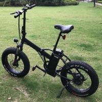 Buy cheap 20X4.0 750w folding electric fat bicycle from wholesalers