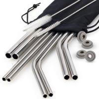 Wholesale amazon reusable straws 10.5,12 inch stainless steel drinking straws from china suppliers