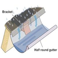Buy cheap Metal Rain Half Round Gutter from wholesalers