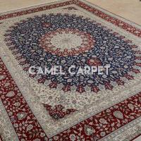 Buy cheap S0900B Handmade Pure Silk Blue and Red Persian Rug from wholesalers