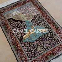 Wholesale K1170A Handmade Deer Trees Ghom Silk Carpet from china suppliers