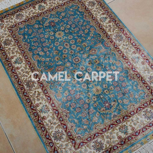 Quality K1164A Silk Rugs from Kashmir for sale
