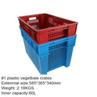 Buy cheap 100% virgin PP fruit and vegetable crate on hot sell from wholesalers