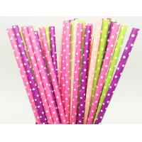 Wholesale round dot paper straws from china suppliers