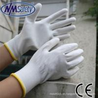 NMSAFETY white dmf-free conductive pu gloves for sale