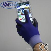China NMSAFETY 18 gauge PU coated glove touch screen h3000 for sale